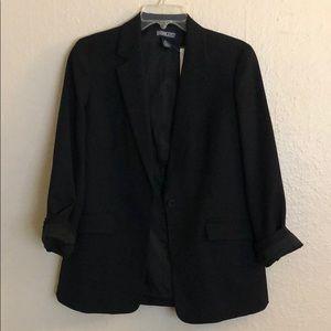 100% wool black blazer
